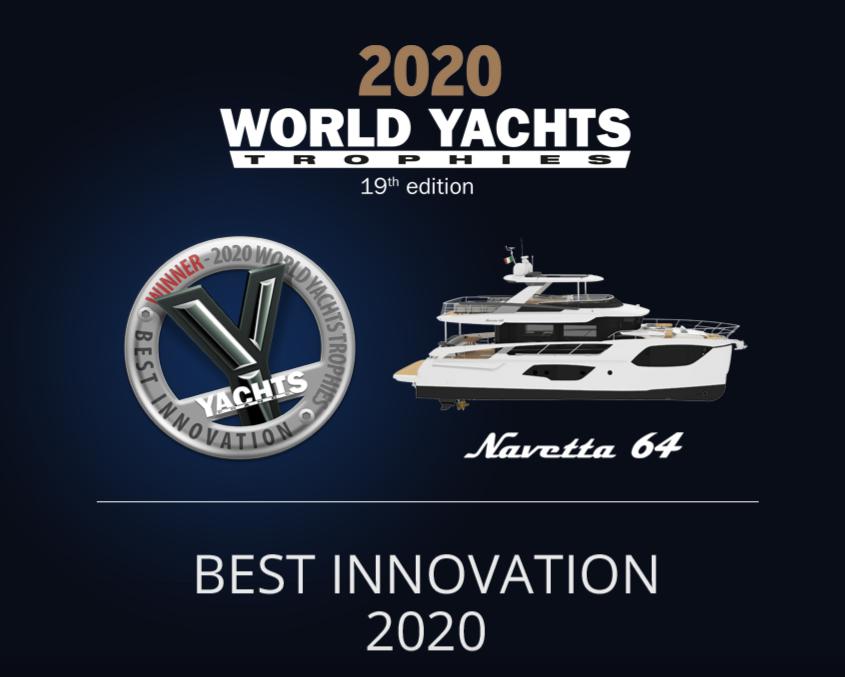 WORLD YACHTS TROPHIES 2020, la Navetta 64 ABSOLUTE récompensée