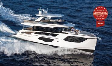 "2021 European Powerboat Award pour la Navetta 64 ""Up to 20m"""
